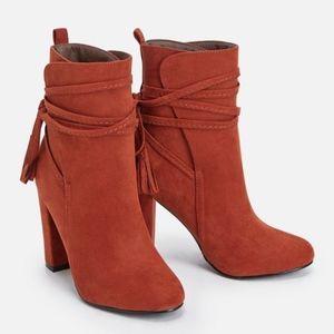JustFab Orange Boots